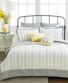 Lenox French Perle Quilt Collection See More From Macys Love This Accent Of Yellow