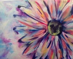 Paint Nite painting: Crazee Daizee!   #paintnite #flowers #GirlsNightOut