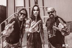 "Gary Holt (Exodus), Adam ""Nergal"" Darski ( Behemoth), and Kerry King (Slayer) Nu Metal, Black Metal, Kerry King Slayer, Gary Holt, Killswitch Engage, Extreme Metal, Power Metal, Alternative Music, Thrash Metal"