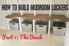 Yay! I finally finished my mudroom lockers – you will see the final reveal soon. Hint: You can sneak a peek on Instagram! Woo to the hoo we have storage for all our coats and shoes and I couldn'...