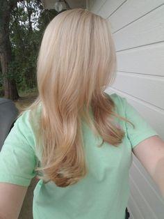 Strawberry blonde + platinum highlights