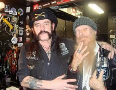 Lemmy Kilmister & Billy Gibbons (ZZ Top)