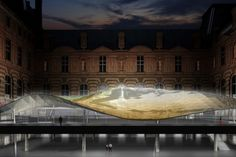 Designed to look like a floating sheet of silk--a reference to the Islamic headscarf--a new wing of the Louvre housing Islamic art is nearing completion.