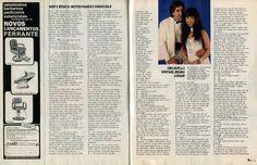 """Renato e Baby Consuelo - """"Papo Chocante"""" - da revista """"Manchete"""" 1987 - página 2/2."""