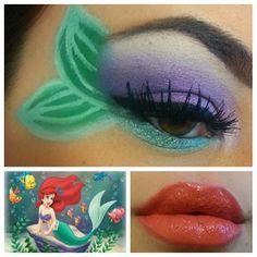 disney diva makeup, mermaid