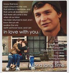 Declaración de amor de Augustus a Hazel
