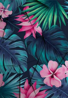 Read the full title Exotic Floral , Removable Wallpaper, Wall mural, Peel and stick, Tropical Mural, Self adhesive, #418