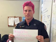 Advocate.com: April 11, 2015 - Toronto police officer goes pink for LGBT anti-bullying campaign