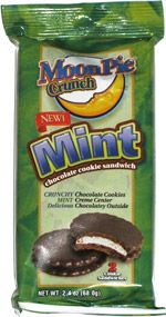 Moon Pie Crunch Mint Chocolate Cookie Sandwich // I bought this an embarrassingly long time ago and just opened it. It is absolutely fantastic. Once again, as soon as I realize I love something I find it is no longer in production and I won't even get to try the other flavors. Hmmph.