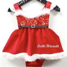 4d6d4764c32 Mrs. Claus in Red Velvet Sparkle Romper Christmas Tutu READY TO SHIP Santa  Dress