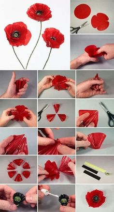 Free template and tutorial to make paper carnation paper flowers tutorial flower making tutorial paperflowers freetemplate paper crafts and paper flowers – Artofit Tissue Paper Flowers, Clay Flowers, Sugar Flowers, Fabric Flowers, Origami Flowers, Poppy Flower Bouquet, Poppy Flowers, Diy Paper, Paper Crafting