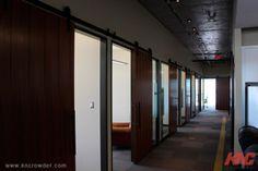CFT-202-BP Sliding Door Kit is used here in an office building in Calgary, Alberta