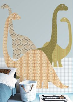 Wall Print collection by INKE IK2072 (dino 153)
