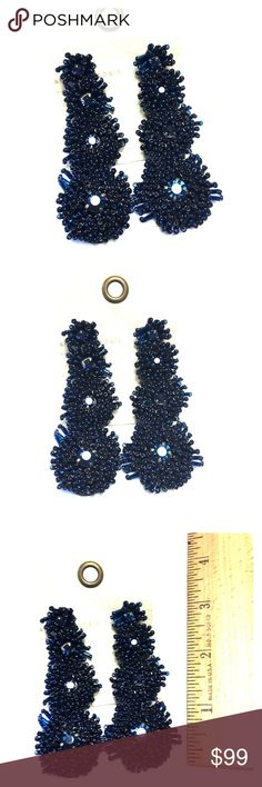 Anthropologie Suzanna Dai Starburst Earrings- BLUE Store overstock; New with tags; Anthropologie Suzanna Dai Starburst Earrings - multiple colors listed in closet Anthropologie Jewelry Earrings