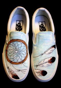 Custom Vans Dreamcatcher by BearGallery on Etsy, $120.00