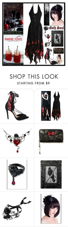 """""""Gothic Halloween Party"""" by yours-styling-best-friend ❤ liked on Polyvore featuring interior, interiors, interior design, home, home decor, interior decorating and Schutz"""