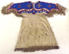 Fringed and Beaded Hide Dress