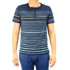 Buffalo Nifun Henley Knit Short Sleeve T-Shirt Fashion Tee - Mens