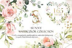 Sunny watercolor flo