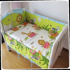 42.80$  Watch now - http://alilwq.worldwells.pw/go.php?t=32365714485 - Promotion! 6PCS Forest Baby bumper set Sale Baby Bedding Set bed linen 100% Cotton,(bumper+sheet+pillow cover)