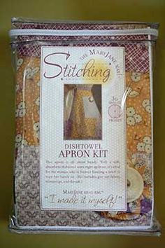 The MaryJane Way!® Dishtowel Apron Kit (Kit includes pre-cut fabric, trimmings, and thread.)