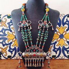 Huge Nepalese statement necklace - www.lostlover.com.au