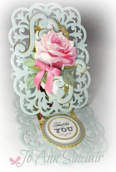 Just for You by Sinclair - Cards and Paper Crafts at Splitcoaststampers Cards For Friends, Friend Cards, Pop Out Cards, Side Step Card, Tattered Lace Cards, Shabby Chic Cards, Anna Griffin Cards, Fancy Fold Cards, Easel Cards