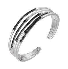 Fink's Jewelers - John Hardy Bamboo Sterling Silver Narrow Flex Cuff with Black Sapphire, $1,200.00 (http://finksjewelers.com/john-hardy-bamboo-sterling-silver-narrow-flex-cuff-with-black-sapphire/)