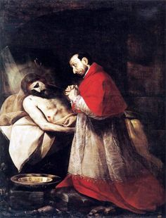 Saint Charles Borromeo Adoring Christ by Giovanni Battista Crespi.
