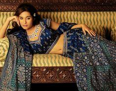 indian bridal blue lengha