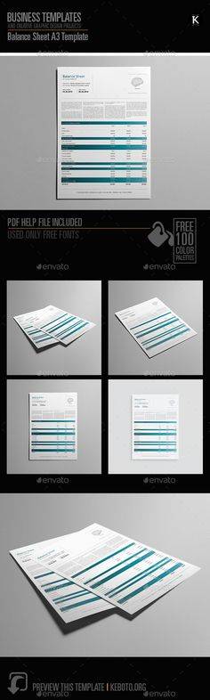 Balance Sheet Booklet Digital Template Balance sheet and Template - blank balance sheets