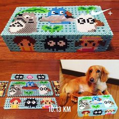 Totoro tissue box cover perler beads by yo_si516