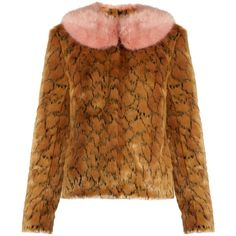 Shrimps Fifi leopard-print faux-fur jacket ($420) ❤ liked on Polyvore featuring outerwear, jackets, leopard, leopard print jacket, faux fur leopard jacket, faux fur jacket, animal print jacket and polka dot jacket