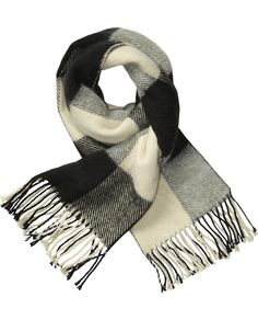 Bold Check Scarf In Soft Quality