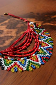 Traditional Ukrainian necklace.