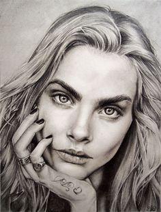 Beautiful drawing of Cara Delevingne by JulietEssence