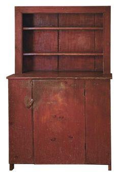 Early 19th C. Stepback Cupboard