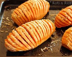 Hasselback Sweet Potatoes...always looking for different idea's with sweet potato! Savory or sweet toppings!