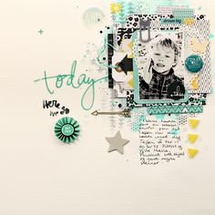 Christin aka Umenorskan scrapper: Today - Made with American Crafts Amy Tangerine Plus One,  Some Heidi Swapp, Freckled Fawn and Studio Calico. Crafters Workshop stencils, Wycinanka and Kaiser Crafts stamps