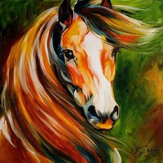 Daily Paintings ~ Fine Art Originals by Marcia Baldwin: The Bay Stallion ~ Equine Art by M Baldwin Colorful Horse Painting, Art Painting, Animal Art, Fine Art, Fine Art Painting, Painting, Animal Paintings, Canvas Art, Canvas Painting