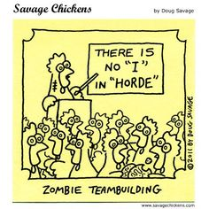 """There is no """"I"""" in """"Horde"""" - #Zombie Teambuilding"""