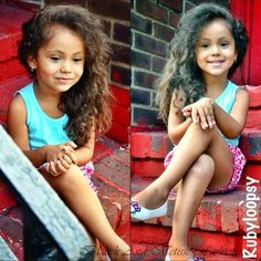 I would die if my daughter looked like her. She is so gorgeous :) Love her hair