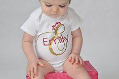 Monogrammed newborn girl name bodysuit - newborn #children #baby #bodysuit @EtsyMktgTool http://etsy.me/2yJ8diD