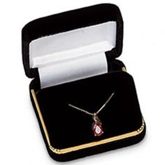 Black Velvet Pendant or Earring Box...(ST61-7245:131055:T).! Price: $119.99 #earringbox #jewelrybox