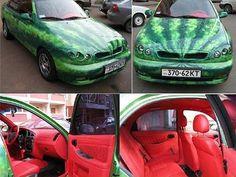 Watermelon Car Funny Car Memes, Car Humor, Dankest Memes, Humor Legal, Funny Cars, Cartoon Memes, Fun Funny, Watermelon Car, Watermelon Festival