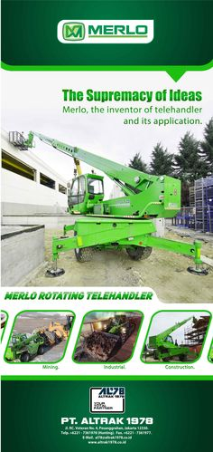 Roll Up Banner Merlo - Rotating Telehandler The Inventors, Type Setting, Jakarta, Banner, Construction, Banner Stands, Building, Banners