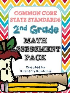 This math assessment packet includes 26 black-line assessments and matching answer keys for each page. That's one assessment and answer key for every 2nd grade Common Core Math Standard, including each sub-category within the standard. The packet also includes a CCSS Math Standard checklist to help you keep track of student mastery or class data for each strand.