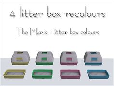 Mod The Sims - 4 litter box recolours Sims 2 Pets, Sims 4 Dresses, Litter Box, Sims Cc, Maxis, One Color, Colours, Fun, Animal