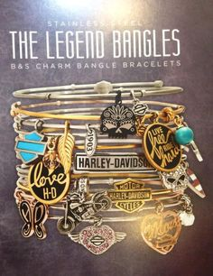 "Love these, modern twist on HD ""The Legend Bangles"" available at shopsandiegoharley.com"
