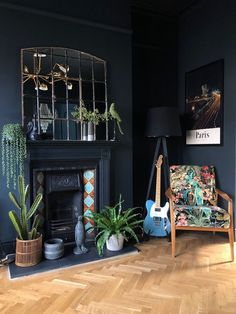 Home Decoration For Living Room Key: 8905056518 Dark Living Rooms, Home Living Room, Living Room Decor, Living Room Inspiration, Home Decor Inspiration, Decor Ideas, Decor Interior Design, Interior Decorating, Interior Livingroom